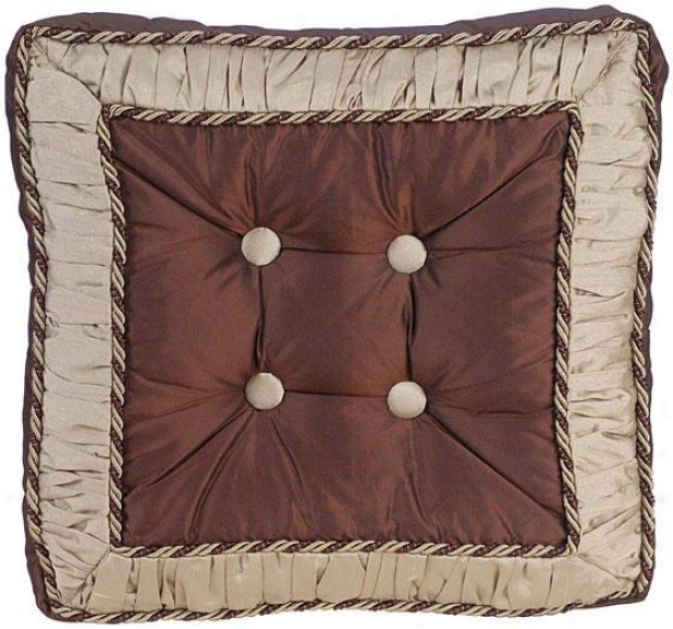 """taylor 18"""" Pillow - 18"""" Squrae, Chocolate Brown"""