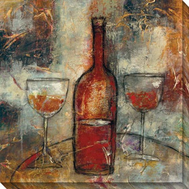 The Good Life Viii Canvas Wall Art - Viii, Burgundy