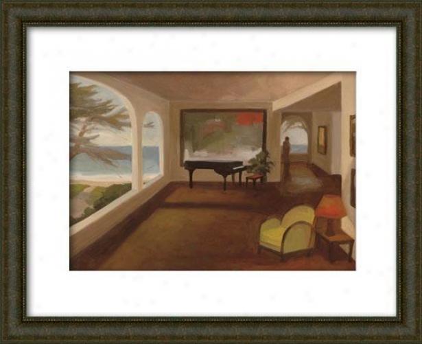 The Terrace Room I Framed Wall Art - I, Matted Burlwood