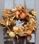 """""""autumn Gathering Wreath - Wreath 24""""""""d , Orange"""""""