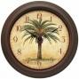 """cabana Resin Wall Clock - 12""""diameter, Brown"""