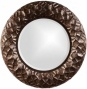 """chuck Texurized Mirror - 33""""roundx3""""d, Bronze"""