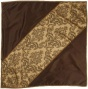 """elegancd Table Topper - 40"""" Squzre,B rown"""