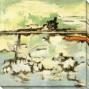 Horizon I Canvas Waall Art - I, White