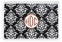 """monogram Damask Serving Tray - 9.25""""s14"""", Black"""