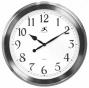 """timepiece - Brushed Nickel Wall Clock - 20""""d, Silver Nickel"""