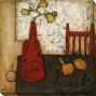 Vase With Fruit Iii Canvas Wall Art - Iii, White