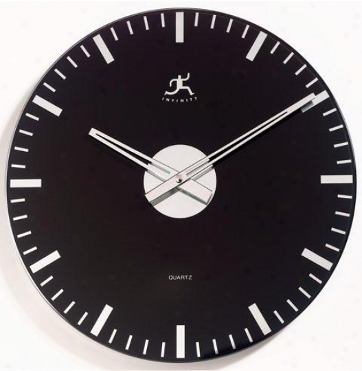 Timepiece - Mirrored Class Wall Clock - Wall, Black