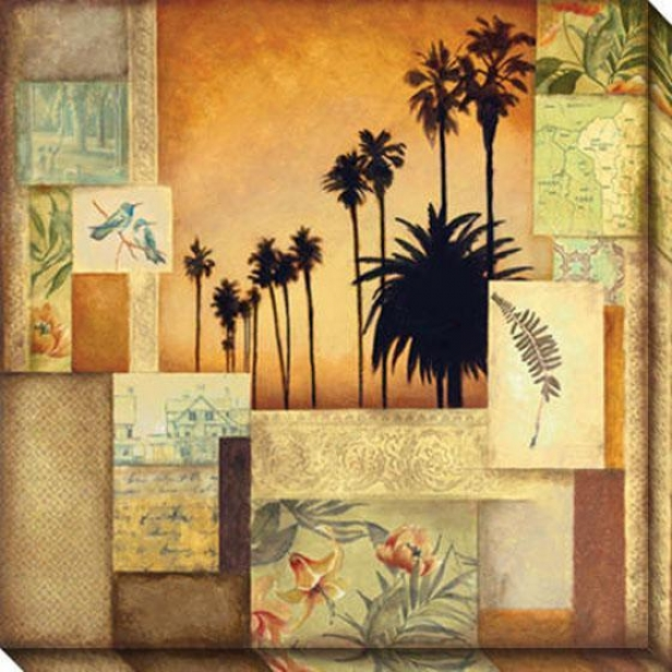 Tropical State Ii Canvas Wall Art - Ii, Gold