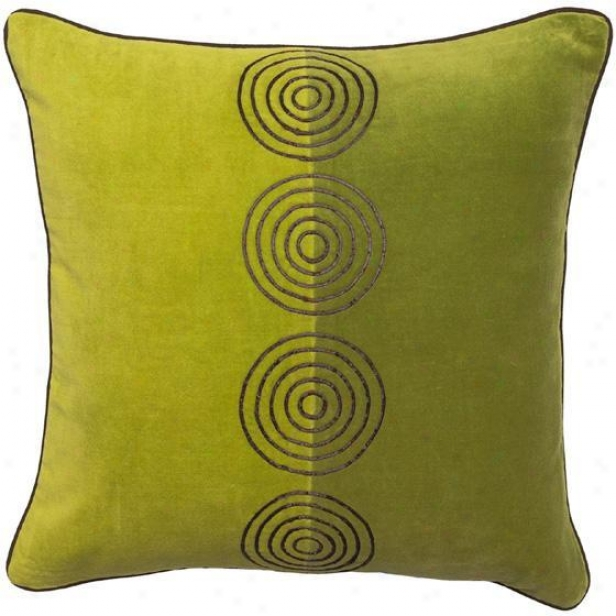 """twist And Turn Pillows - Set Of 2 - 18""""x18"""", Limeade/chclt"""