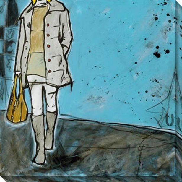 """""""Subterranean Canvas Wall Art - 40""""""""hx40""""""""w, Blue"""""""