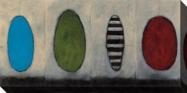 Undulating Design I Canvas Wall Art - I, White