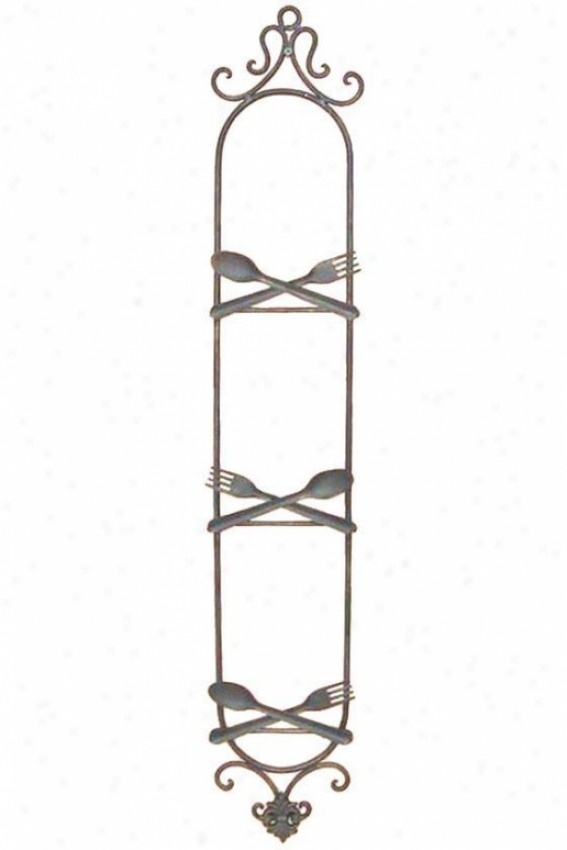 """utensil Plate Rack - 40""""hx7""""w, Brown"""