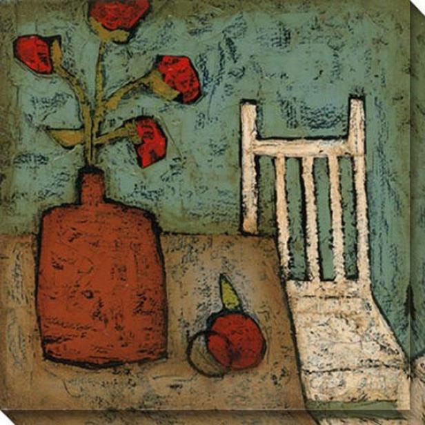 Vase With Fruit I Canvas Wall Art - I, Blue