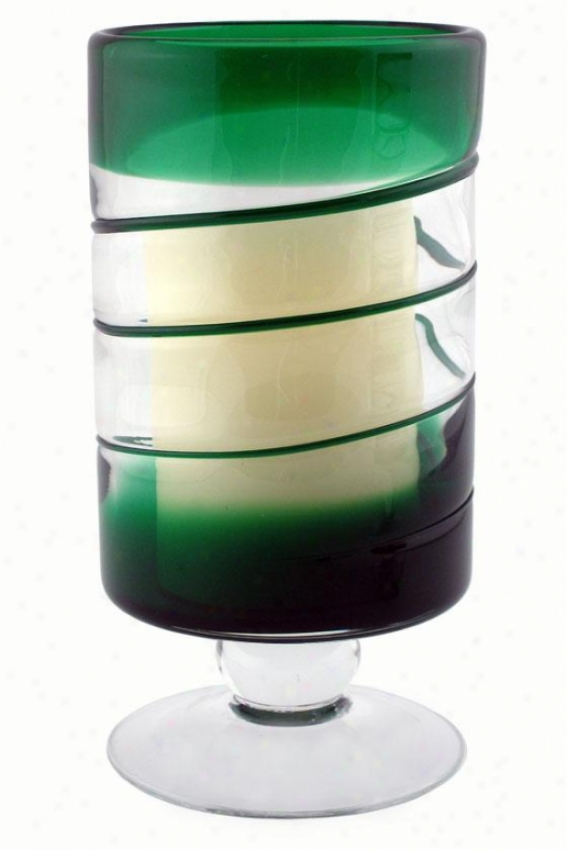 """venezia Flameless Candle - 10""""h X 5""""w, Green"""