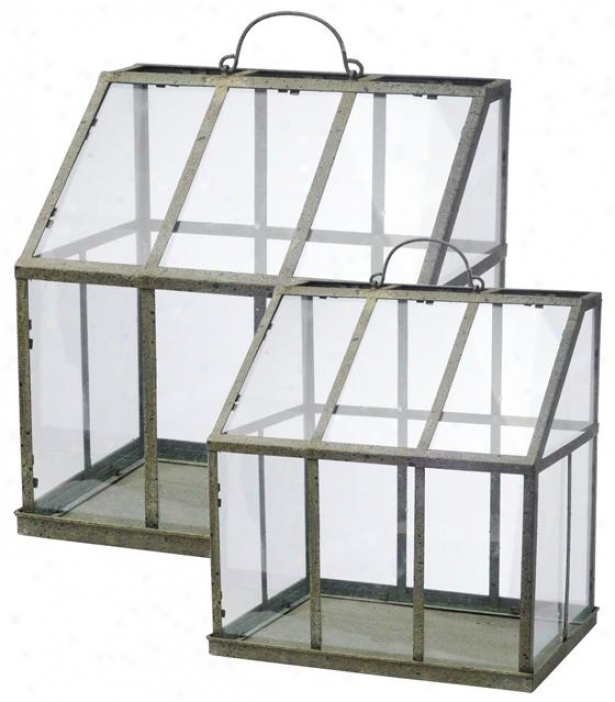 Vera Greenhouse - Set Of 2 - Embarrass Of 2, Clear
