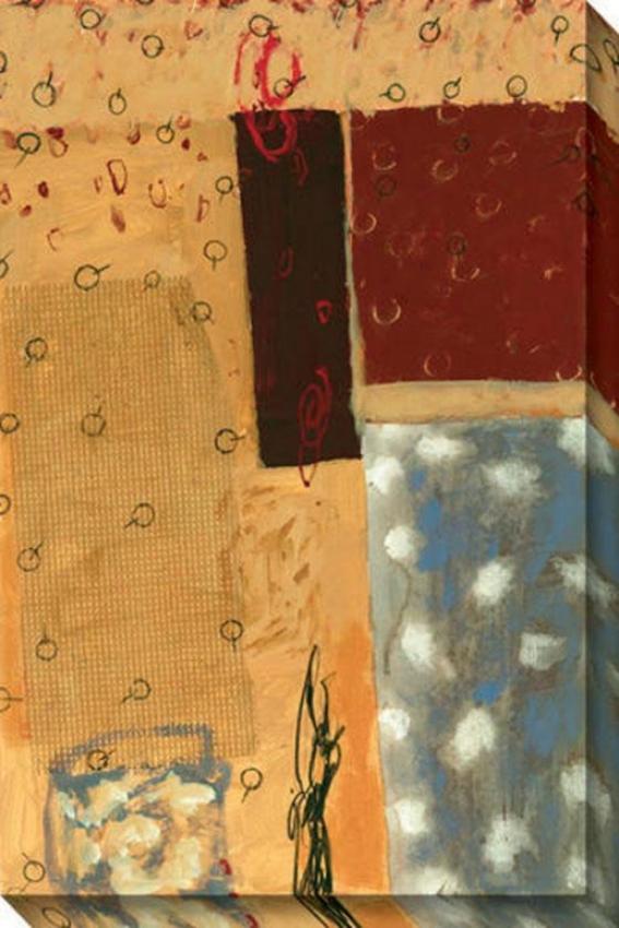 Verada Iii Canvas Wall Creation of beauty - Iii, Yellow