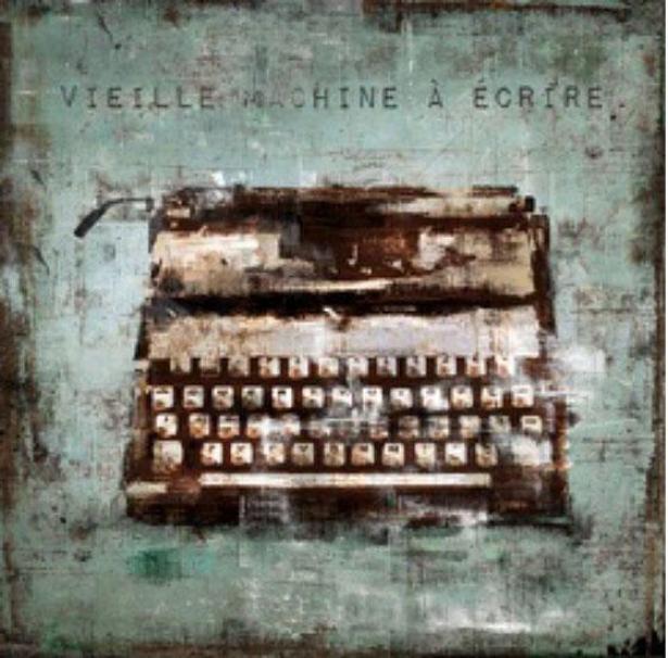 Vielles Wall Art - Machine A Ecrir, Turquoise