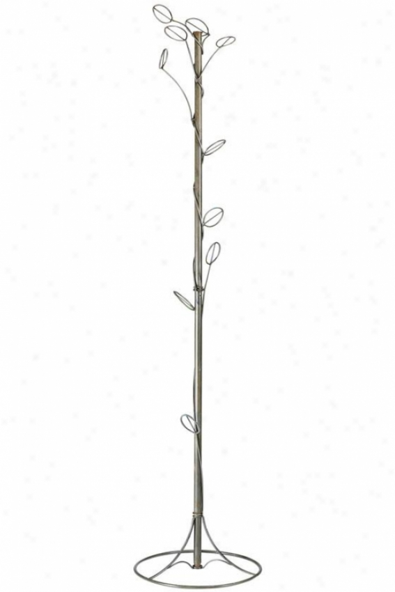 """vine Coat Tree - 77.5""""hx16""""d, Bronze"""