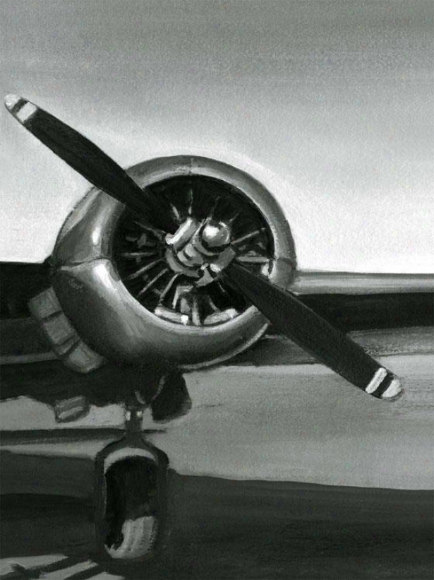 Vintage Flight Wall Art - Iii, Black And White