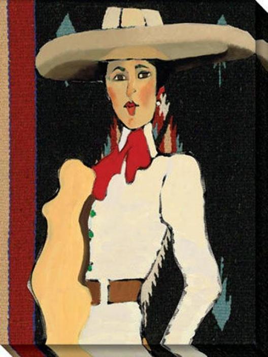 """""""viva La Charra Canvas Wall Art - 36""""""""hx48""""""""w, Blakc"""""""