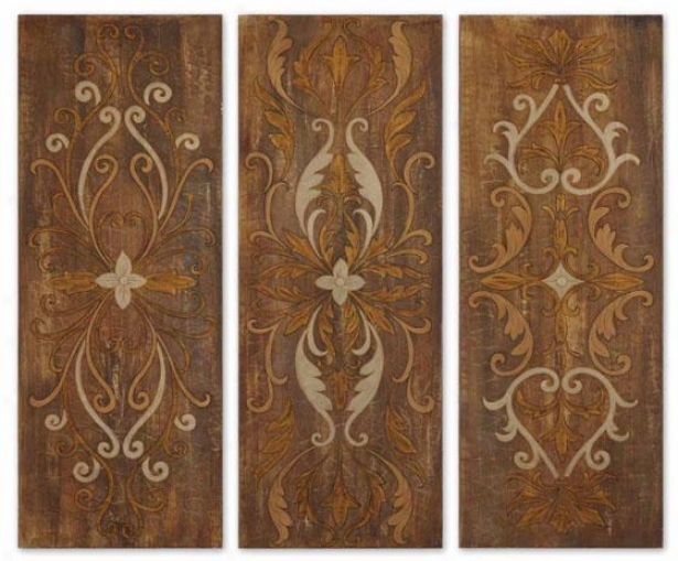 Wakefield Panels - Set Of 3 - Set Of Three, Multi