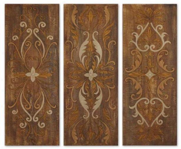 Wakefield Panels - Set Of 3 - Set Of Three, Multi