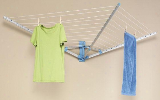 """wall Mount Drying Rack - 19""""hx76""""wx40""""d, Silver"""
