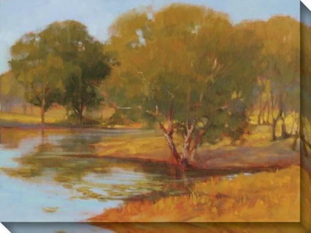 Water's Edge Ii Canvas Wall Art - Ii, Gold
