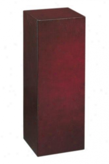 """wood Square Pedestal  -30""""h, Brick Red"""