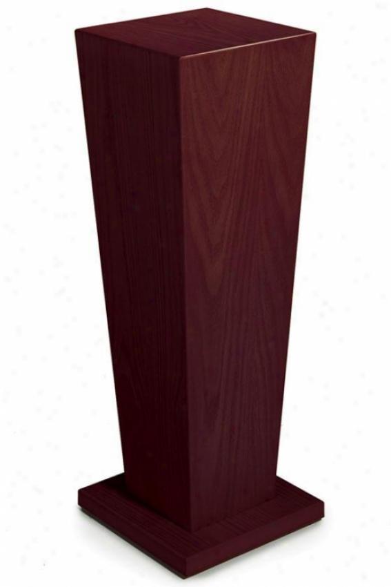 """wood Tapered Pedestal - 30""""h, Brick Red"""
