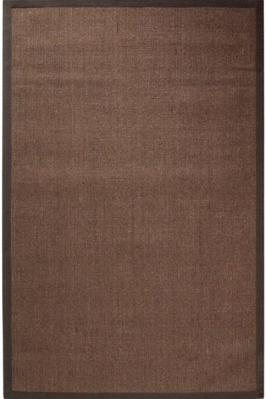 Amherst Sisal Area Rug - 6'round, Chocolate Brown