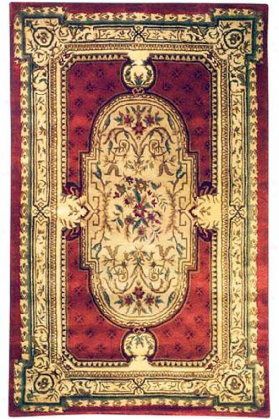 """""""aubusson I Area Rug - 9'6""""""""x13'6"""""""", Red"""""""