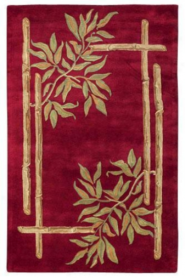 """bamboo I Area Rug - 2'9""""x14' Runner, Red"""