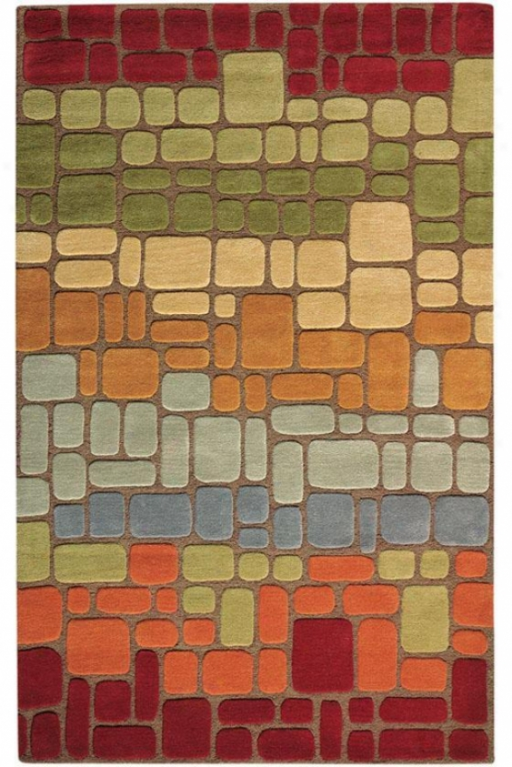 """barrier Rug - 5'3""""x8', Borwn"""