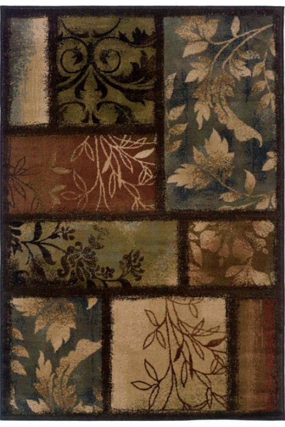 """branches Area Rug - 3'10""""x5'5"""", Brown"""