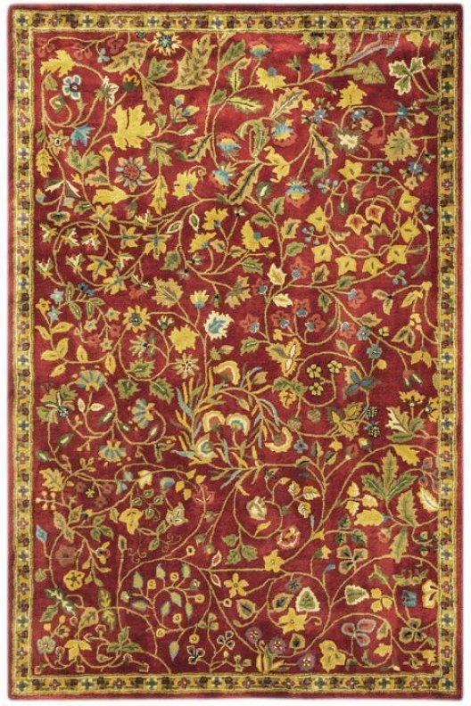 """bristol I Area Rug - 5'3""""x8'3"""", Red"""