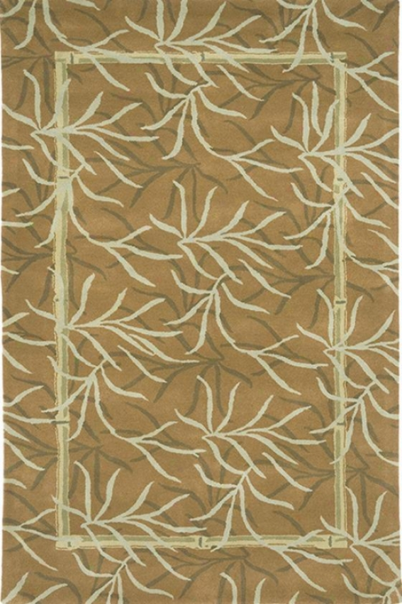 Bungalow Area Rug - 8'x11', Ginger/celery