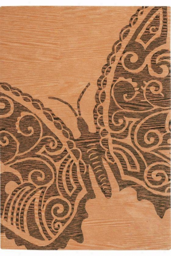 """""""butterfly I Area Rug - 5'3""""""""x8'3"""""""", Gold"""""""