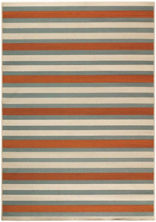 """candy Stripe All-weather Area Rug - 2'3""""x7'6"""""", Red/teal Stripe"""