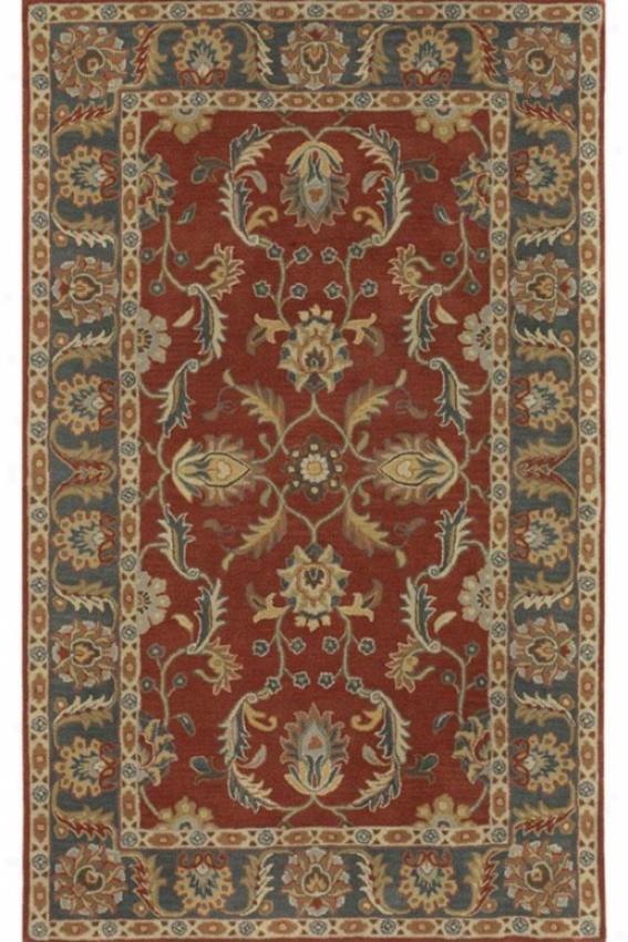 Captain's Area Rug - 2'x3', Red