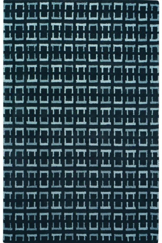 """channels Area Rug - 2'6""""x8'runner, Blue"""