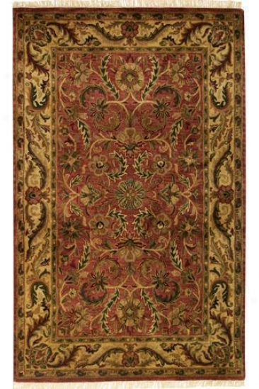 """chantilly Area Rug - 7'9"""" Square, Brick Red"""