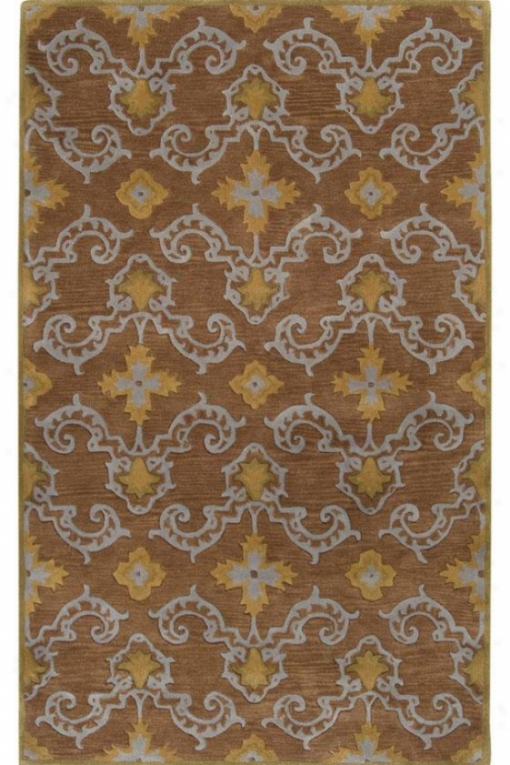 Chateau Iii Area Rug - 5x8, Brown/moss
