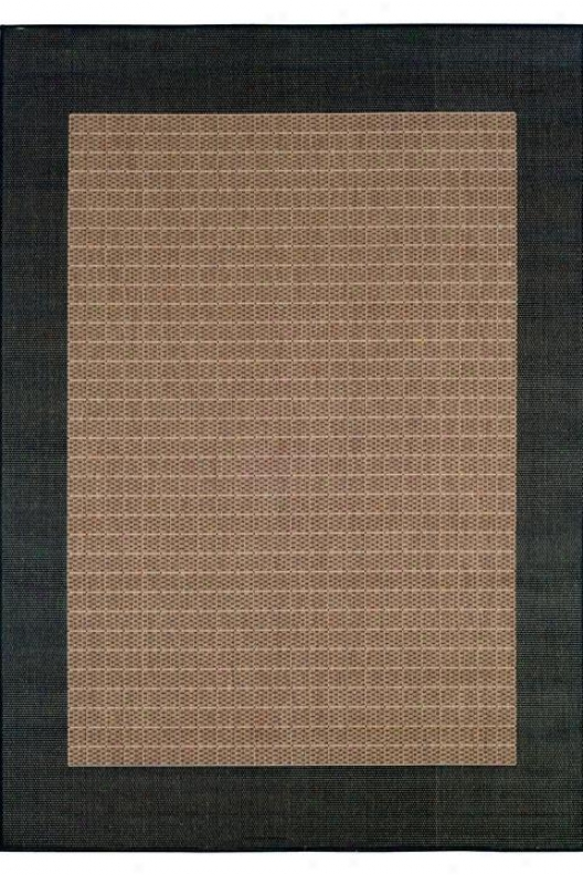"""""""couristan Checoered Field Area Rug - 7'6""""""""x10'9"""""""", Chocolate Brown"""""""