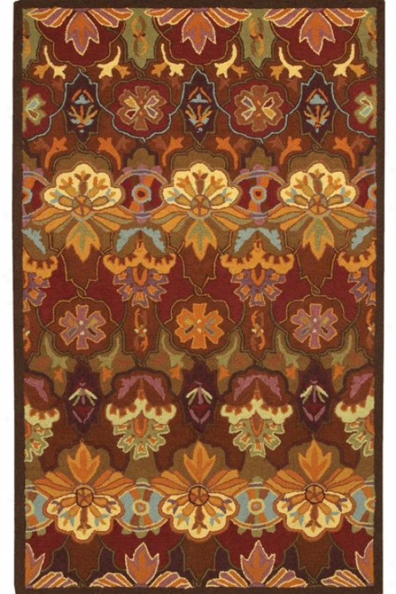 """couristan Orange Blossoom Area Rug - 2'6""""x8'6""""runner, Multi"""