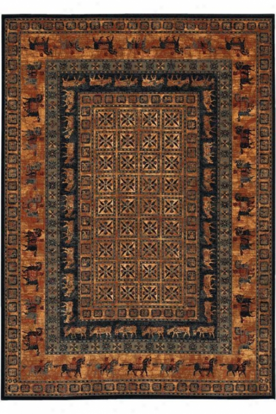 """couristan Pazyrk Sketch Area Rug - 9'9""""x13'9"""", Brown"""