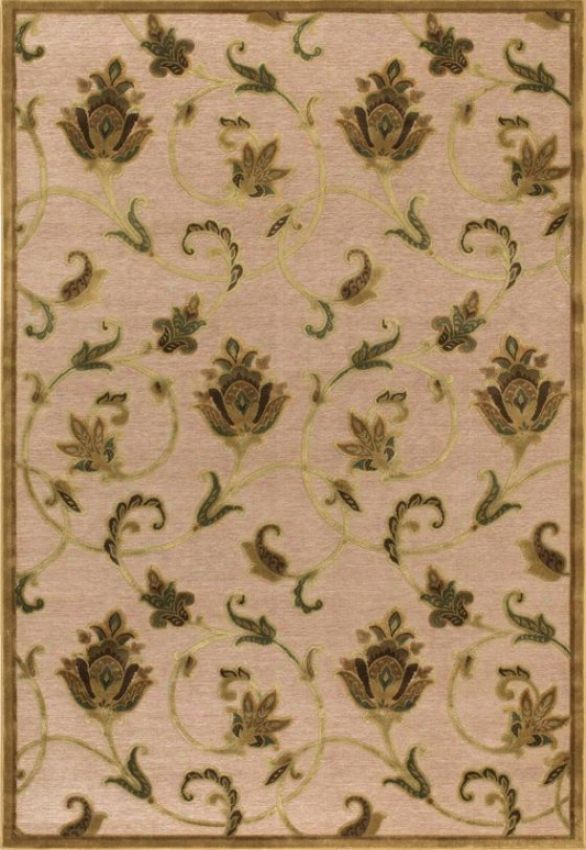 """couristan Petal Vine Area Rug - 5'1""""x7'6"""", Ivory/antq Gold"""