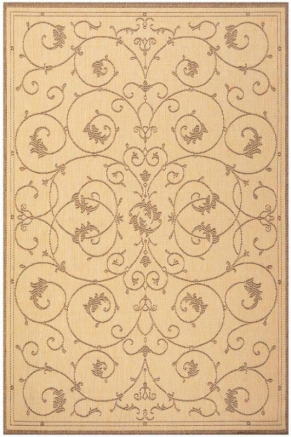 """""""couristan Tendril Area Rug - 8'6""""""""x13', Chocolate Brown"""""""