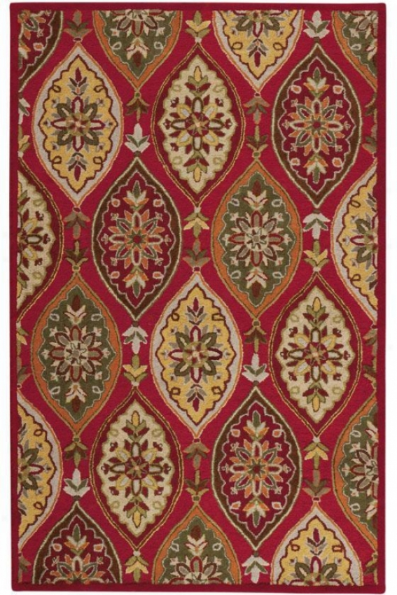 """coventry Area Rug I - 5'3""""x8'3"""", Red"""